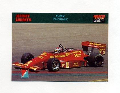 1992 Collect-A-Card Andretti Racing #94 Jeff Andretti's Car