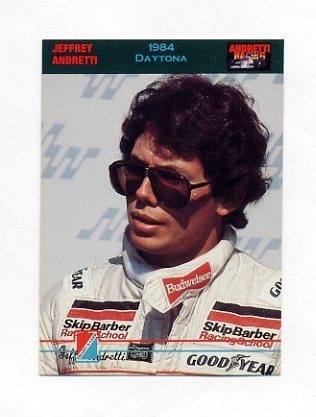 1992 Collect-A-Card Andretti Racing #87 Jeff Andretti