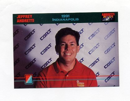 1992 Collect-A-Card Andretti Racing #84 Jeff Andretti