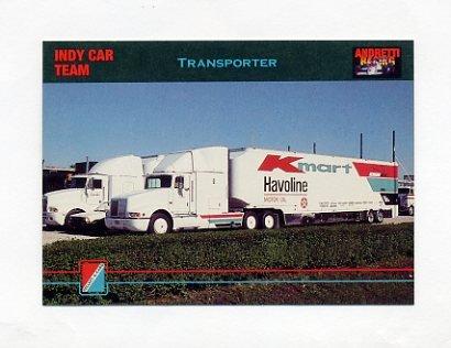 1992 Collect-A-Card Andretti Racing #83 Mario Andretti's Transporter