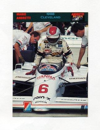 1992 Collect-A-Card Andretti Racing #81 Mario Andretti in Car
