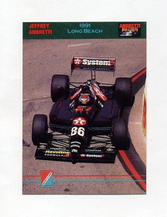 1992 Collect-A-Card Andretti Racing #74 Jeff Andretti's Car