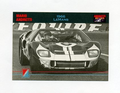 1992 Collect-A-Card Andretti Racing #73 Mario Andretti's Car