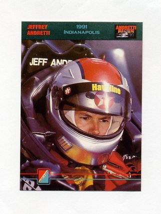 1992 Collect-A-Card Andretti Racing #66 Jeff Andretti
