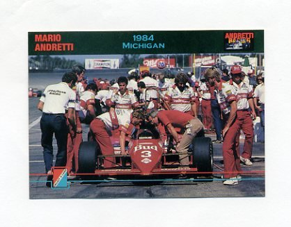 1992 Collect-A-Card Andretti Racing #62 Mario Andretti's Car