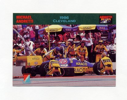 1992 Collect-A-Card Andretti Racing #54 Michael Andretti's Car