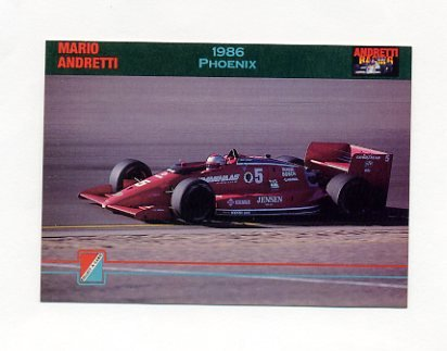 1992 Collect-A-Card Andretti Racing #52 Mario Andretti's Car