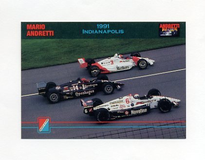 1992 Collect-A-Card Andretti Racing #41 Mario Andretti / A.J. Foyt Cars