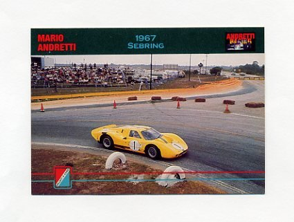 1992 Collect-A-Card Andretti Racing #17 Mario Andretti's Car