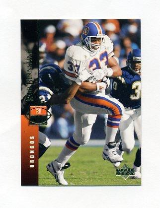 1994 Upper Deck Football #308 Rod Bernstine - Denver Broncos