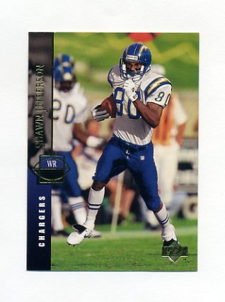 1994 Upper Deck Football #144 Shawn Jefferson - San Diego Chargers