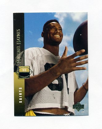 1994 Upper Deck Football #045 Michael Haynes - New Orleans Saints