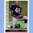 1993 Upper Deck Football #487 Ron George RC - Atlanta Falcons