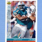 1993 Upper Deck Football #455 Jeff Cross - Miami Dolphins
