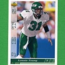 1993 Upper Deck Football #407 Lonnie Young - New York Jets