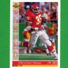 1993 Upper Deck Football #396 Christian Okoye - Kansas City Chiefs