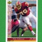 1993 Upper Deck Football #392 Tim Johnson - Washington Redskins