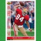 1993 Upper Deck Football #382 Brent Jones - San Francisco 49ers