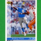 1993 Upper Deck Football #372 Rodney Peete - Detroit Lions