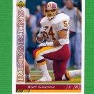 1993 Upper Deck Football #367 Kurt Gouveia - Washington Redskins