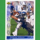 1993 Upper Deck Football #351 Anthony Johnson - Indianapolis Colts