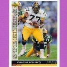 1993 Upper Deck Football #282 Carlton Haselrig - Pittsburgh Steelers