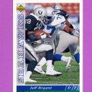 1993 Upper Deck Football #280 Jeff Bryant - Seattle Seahawks