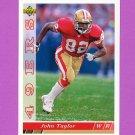 1993 Upper Deck Football #258 John Taylor - San Francisco 49ers