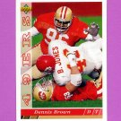 1993 Upper Deck Football #211 Dennis Brown - San Francisco 49ers