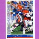 1993 Upper Deck Football #188 Greg Lewis - Denver Broncos