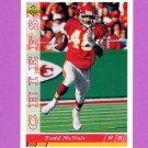 1993 Upper Deck Football #180 Todd McNair - Kansas City Chiefs