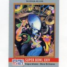 1990 Pro Set Theme Art Football #24 Super Bowl XXIV San Francisco 49ers / Denver Broncos