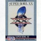 1990 Pro Set Theme Art Football #20 Super Bowl XX Chicago Bears / New England Patriots
