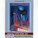 1990 Pro Set Theme Art Football #17 Super Bowl XVII Washington Redskins / Miami Dolphins