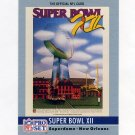 1990 Pro Set Theme Art Football #12 Super Bowl XII Dallas Cowboys / Denver Broncos