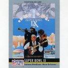 1990 Pro Set Theme Art Football #09 Super Bowl IX Pittsburgh Steelers / Minnesota Vikings