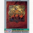 1990 Pro Set Theme Art Football #08 Super Bowl VIII Miami Dolphins / Minnesota Vikings