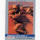 1990 Pro Set Theme Art Football #05 Super Bowl V Baltimore Colts / Dallas Cowboys