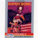 1990 Pro Set Theme Art Football #04 Super Bowl IV Kansas City Chiefs / Minnesota Vikings
