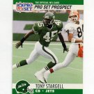 1990 Pro Set Football #745 Tony Stargell RC - New York Jets