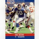 1990 Pro Set Football #744A Eric Moore - New York Giants