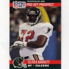 1990 Pro Set Football #723B Oliver Barnett RC - Atlanta Falcons