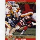 1990 Pro Set Football #722 Eric Davis RC - San Francisco 49ers