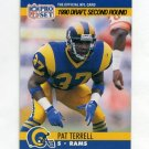 1990 Pro Set Football #718B Pat Terrell RC - Los Angeles Rams