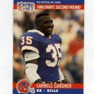 1990 Pro Set Football #711 Carwell Gardner RC - Buffalo Bills