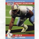 1990 Pro Set Football #710 Jeff Alm RC - Houston Oilers