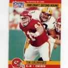 1990 Pro Set Football #709 Tim Grunhard RC - Kansas City Chiefs
