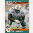 1990 Pro Set Football #708 Keith Sims RC - Miami Dolphins