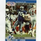 1990 Pro Set Football #704 Dan Owens RC - Detroit Lions