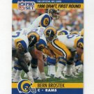 1990 Pro Set Football #691 Bern Brostek RC - Los Angeles Rams